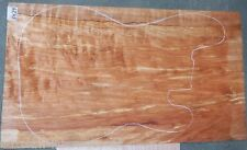 Ambrosia Spalted Maple #5427 ONE PC.Electric Bass Guitar top 24+ x 13 1/2 x 1/2