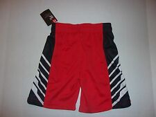 NEW Under Armour Little Boy's Red Black Heat Gear Athletic Shorts Size 5 NWT