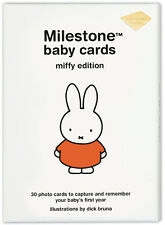 Milestone BABY CARDS MIFFY EDITION Baby Gift Set Box Photo Album Memories BN