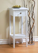 """small 12"""" white sofa End side bedside Table Nightstand drawer Shelf plant stand"""