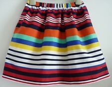 Immaculate Tommy Hilfiger Bright Summer Skirt, Size 140 (10 yrs) Striped Print