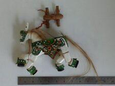 Thai burmese handmade vintage marionette string horse puppet