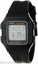 Casio F201WA-1A Mens Digital Sports Watch 5 Alarms 10 Year Battery Stopwatch NEW