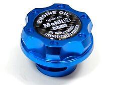 MOBIL 1 CNC BILLET ENGINE OIL FILLER CAP FOR CHEVY LS1 LS2 LS3 LS6 BLUE CF