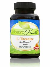 L-Theanine 200mg 100 Capsules Relaxation Support