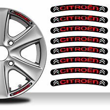 8 Citroen Rim Stickers Wheel Stripes Set Emblem Car Auto Tuning Motorcycle C28