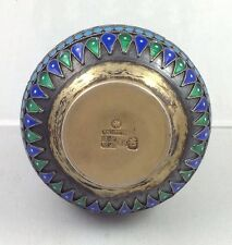 Russian Enameled Silver Salt  Cellar , Moscow  P. Ovchinnikov.