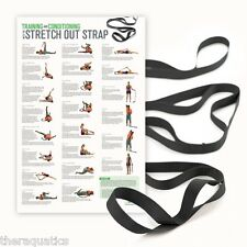 Tall Yoga Pilates Workout Poster  OPTP EXTRA LARGE STRETCH OUT STRAP Exercise