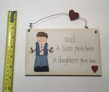 Dad 1st Hero Wall Plaque  Gift Ideas for Dad & him for Christmas Stocking Filler