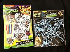 TEENAGE MUTANT NINJA TURTLES SHRINK ART COLOR & BAKE Shrinky Dink + Scratch Art