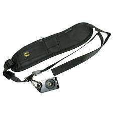 Shoulder Sling Strap Belt for DSLR Digital SLR Camera with Pocket - Black