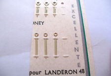 LANDERON 48 1 X PAIR SILVER LUMINOUS HANDS ( HOUR + MINUTE HAND )