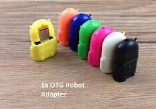 OTG Roboter Adapter - Micro USB auf USB - Android Robot - 7 Farben