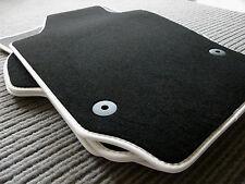 Lengenfelder Fußmatten passend für Mazda 3 BM Mazda 3 BN + Rand Kunstleder WEIß
