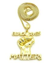 """NEW BLACK LIVES MATTER PENDANT WITH 30"""" BOX CHAIN"""
