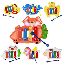 Musical Educational Cute Animal Developmental Music Bell Toy 4 Tones for Baby