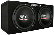 "MTX Terminator TNE212D 400 watt  2 Ohm Dual 12"" Subwoofers/Subs Sealed Sub Box"