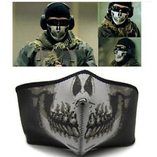 Reuseable Men Airsoft Skull Motorcycle Half Face Mask Cycling Skiing Snowboard