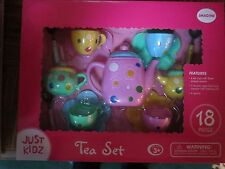 JUST KIDZ 18 PIECE TEA SET - PURPLE