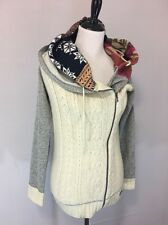 Women's Desigual Cardigan Sweater. Size S. Cute Hood. Full Zipper