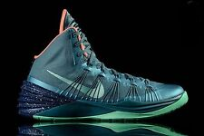 NIKE HYPERDUNK 2013 Mens Shoes Sz 12 599537 303 MINERAL TEAL GREEN GLOW BRAVE