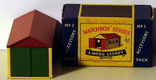 DTE LESNEY MATCHBOX ACCESSORY PACK A-3 METAL GARAGE