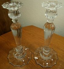 "Pair Of Mikasa Crystal 10"" Candlestick Candle Holders EXCELLENT CONDITION!"