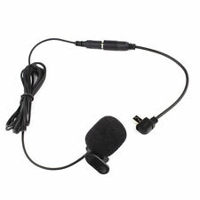 3.5mm External Microphone Clip On Mic+ Adapter Cable for Go Pro Hero 3 Hero 3+AA