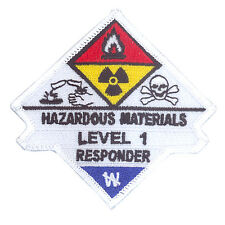 Hazardous Materials Haz Mat Level 1 Responder Uniform Patch Firefighter Rescue