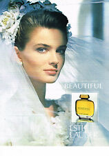 PUBLICITE ADVERTISING 054  1990  ESTEE LAUDER  pafum BEAUTIFUL 2
