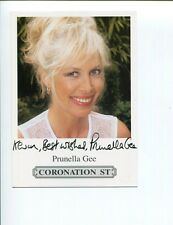 Prunella Gee James Bond Girl Coronation Street Signed Autograph Photo