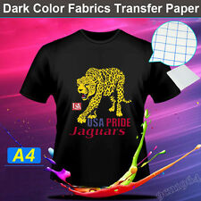 10 Sheets A4 Inkjet Heat Iron On Transfer Paper for  Dark Color Fabrics