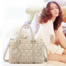Fashion Womens Plush Tote bag heart pattern Handbag shoulder Crossbody Bag Purse