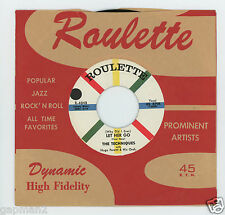 The Techniques 1958 Roulette 45rpm (Why Did I Ever) Let Her Go b/w Marindy