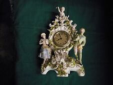 antique dresden / meissen type clock