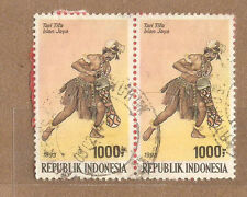 Ori mounted on envelope Irian Jaya Dance  stamps 1000rp x 2
