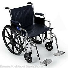 Medline Excel Extra Wide Wheelchair 450 Lb 24 Inch Seat