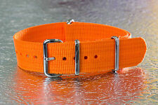 20mm [ Solid Orange ] Military G10 Watch Band Strap for Timex Weekender