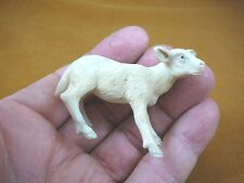 (moose-11) baby white Moose cow of shed ANTLER figurine Bali detailed carving