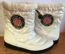 Madden Girl Puffer Boots Ankle Icicle White Fur Winter Fashion Women Sz 9.5 new