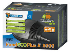Superfish Pond Eco Plus E 8000 Only 41 Watts Power Consumption Pump
