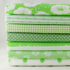 """7 Assorted Pre Cut Charm 10"""" Squares Quilt DIY Cotton Upholstery Fabric"""