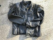 HARLEY DAVIDSON VINTAGE WILLIE G LEATHER JACKET CLASSIC FRINGE  MEN size 40 Reg