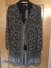 Ladies Black Mint Velvet Casey Swing Boho Dress Tunic Blouse SIZE 12