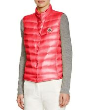 NEW $500 Moncler Liane Lightweight Down Vest, Color Bright Red Coral, Size 3 / L