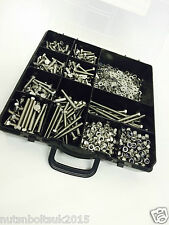 1240pcs M5 ASSORTED BOLTS NUTS AND WASHERS KIT SET A2 STAINLESS DIN933 BOX SET