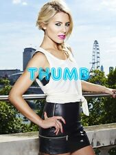 Mollie King - 8x6 inch Photograph #018 in Tight Black Leather Mini Skirt