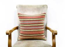 Sale Striped Decorative Kilim Rug Pillow Cover Handwoven Natural Ethnic Cushion