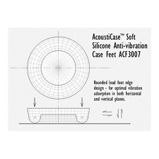 PQ216 AcoustiFeet Soft Anti-Vibration Feet ACF3007-20B Acousti