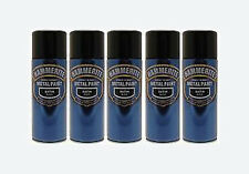Hammerite 400ml x5 Smooth Black 5x Metal Spray Paint  Aerosol Tins